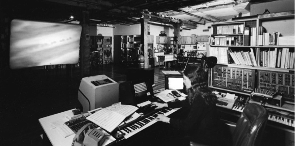 Computer Music pioneer, Laurie Spiegel, in her studio. Photo credit: Enrico Ferorelli