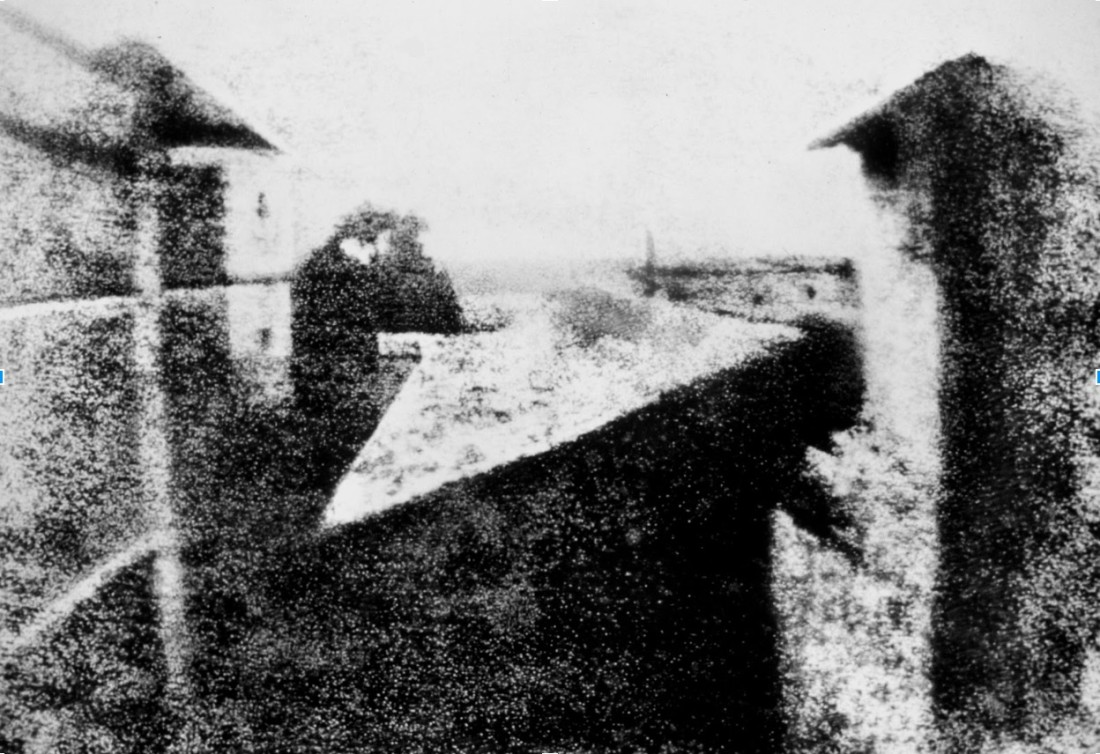 View from the Window at Le Gras, 1826 or 1827, the earliest surviving camera photograph